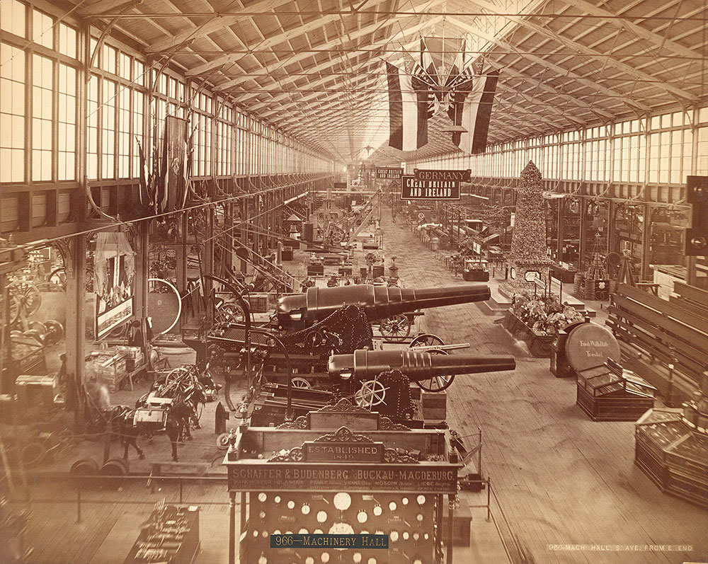 Machinery Hall-South Avenue from east end