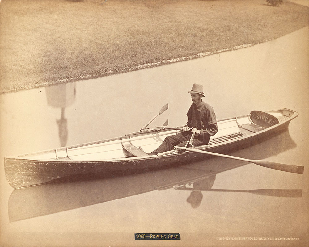 Wm. Lyman's improved rowing gear and boat