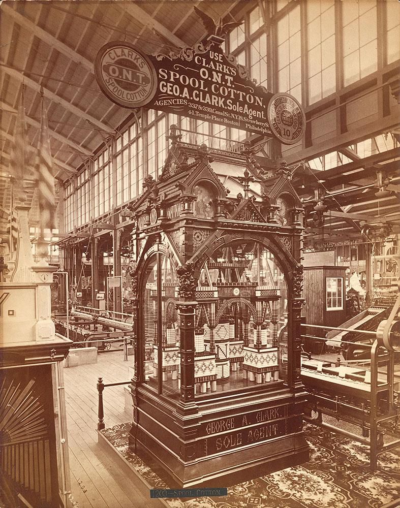 Geo. A. Clark's exhibit--Machinery Hall