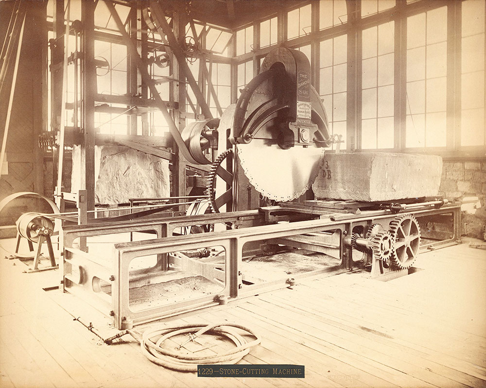 Emerson's stone-cutting machine