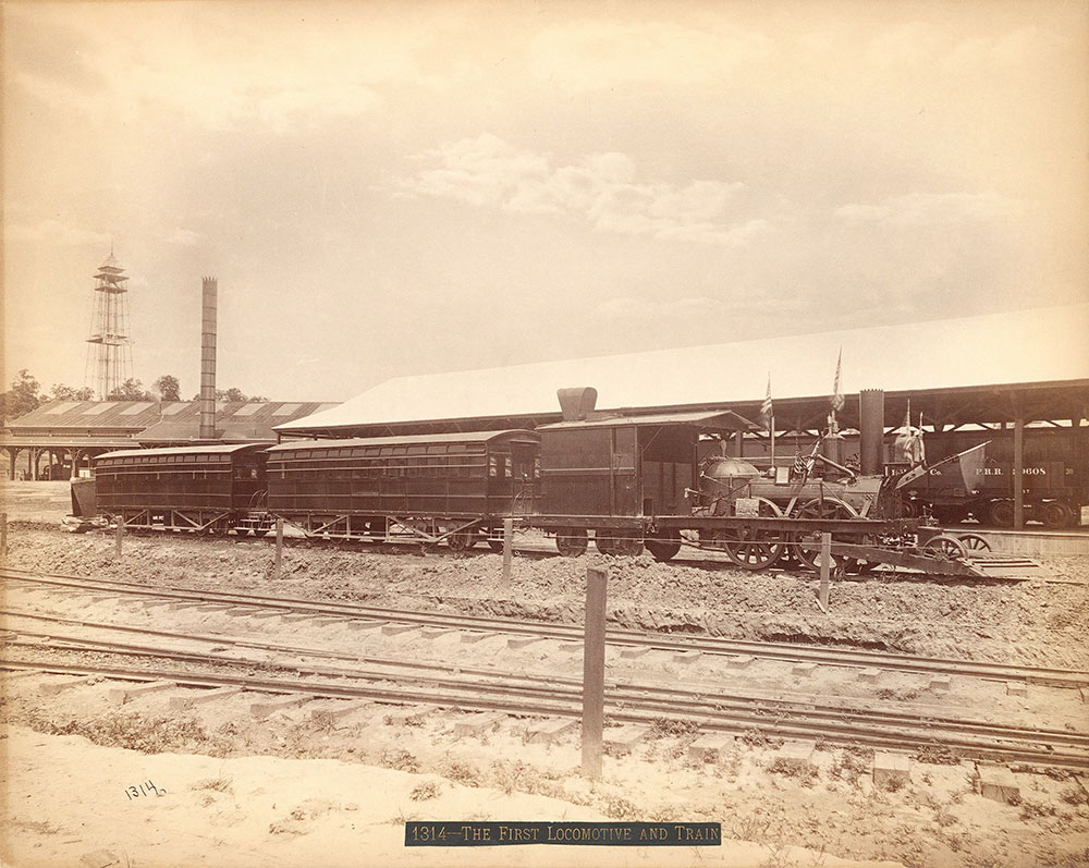 The old locomotive and train