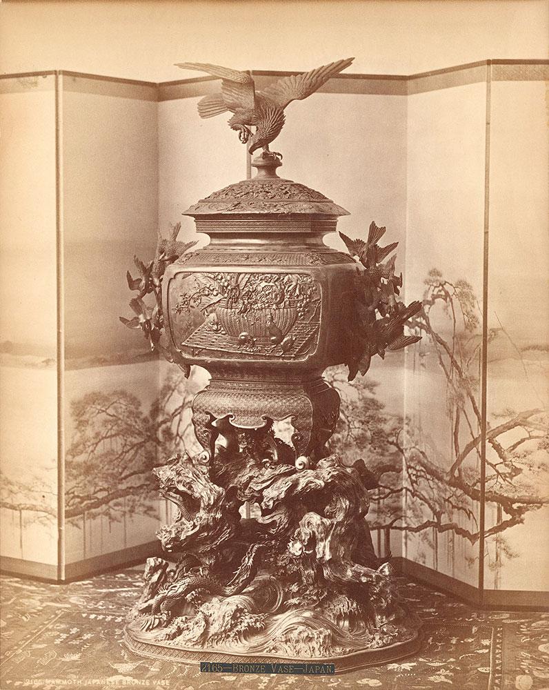 Mammoth Japanese bronze vase