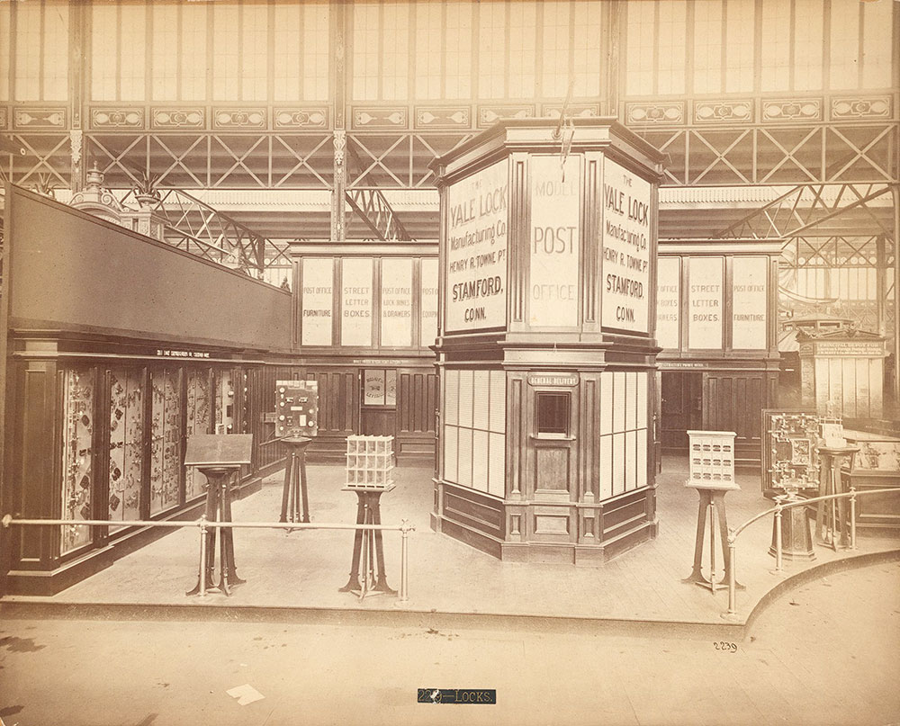Yale Lock Co.'s model post-office