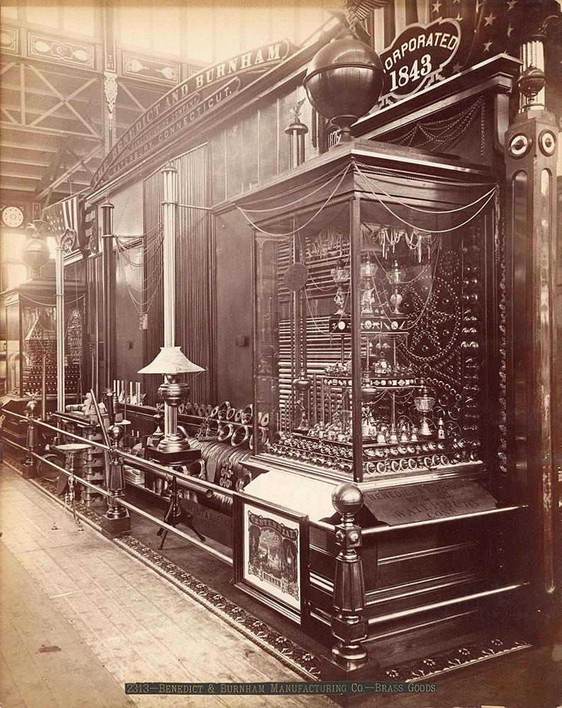 Benedict & Burnham's exhibit-Machinery Hall [sic]