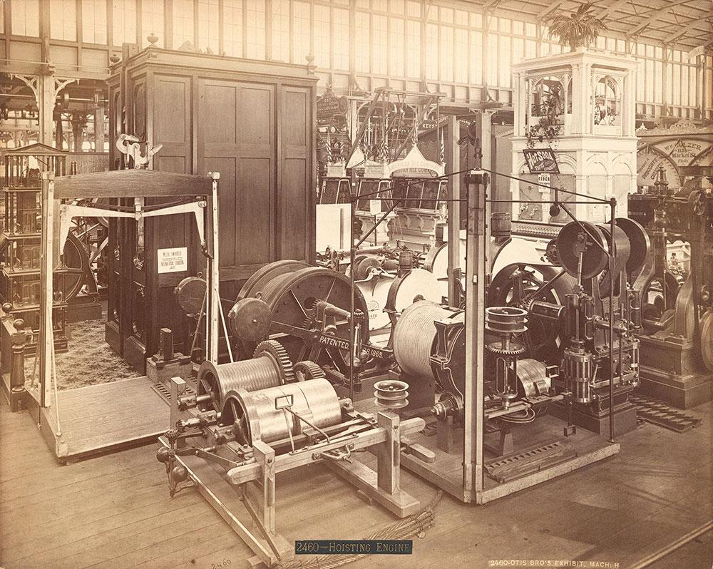 Otis Bros. exhibit-Machinery Hall