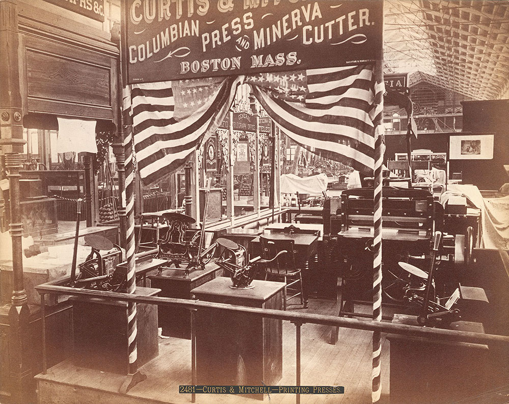 Curtis & Mitchell's exhibit-Machinery Hall
