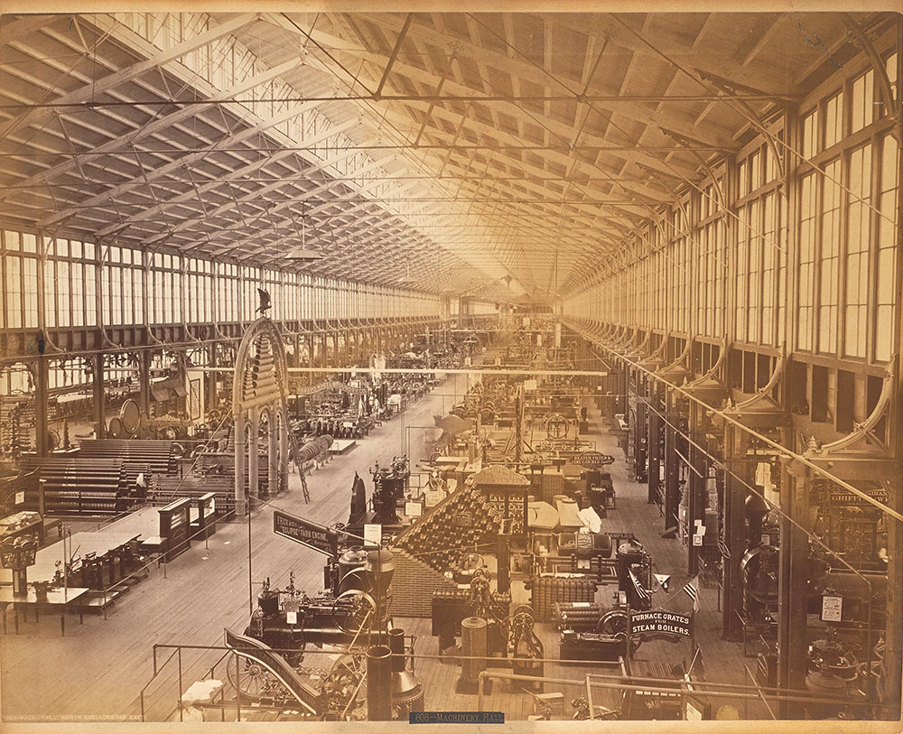 Machinery Hall-North Avenue, looking east