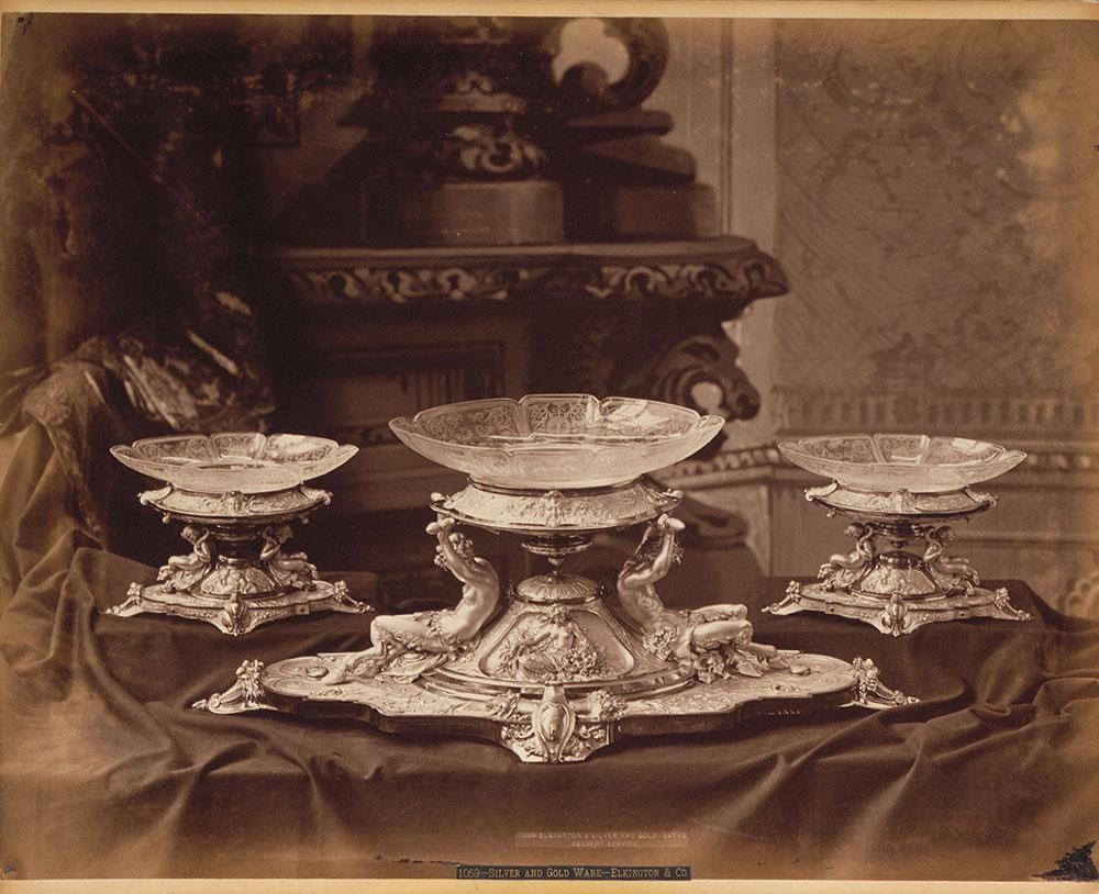 Satyr dessert service, Elkington & Co.'s-M.B.