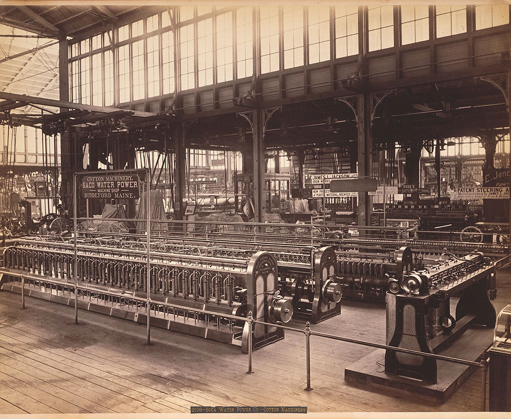Saco Water Power-Cotton machine