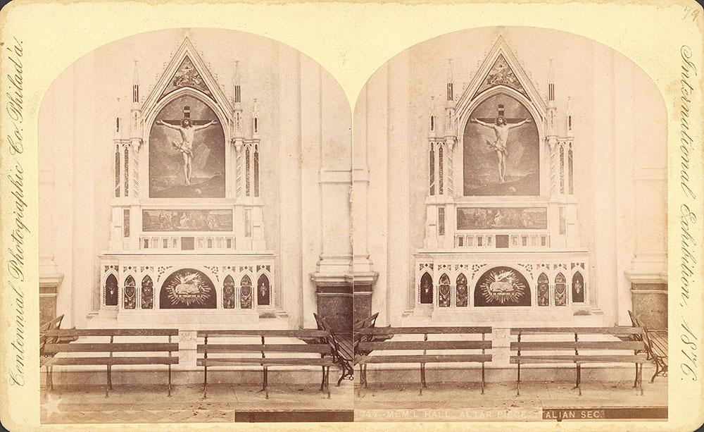 Memorial Hall--altar piece, Italian