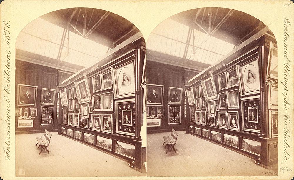 F. Gutekunst's exhibit--Photographic Hall