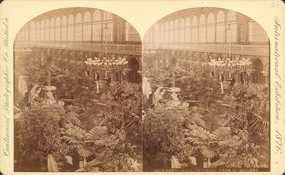 Horticultural Hall, interior from north gallery