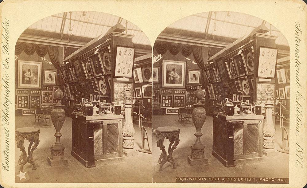 Wilson, Hood & Co.'s exhibit--Photographic Hall