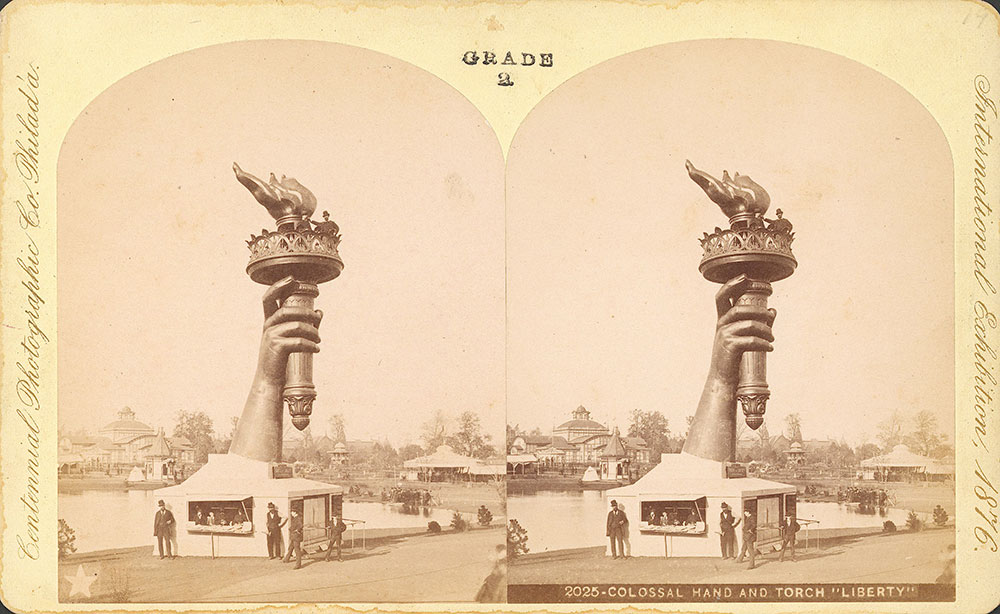 Colossal hand and torch, Liberty