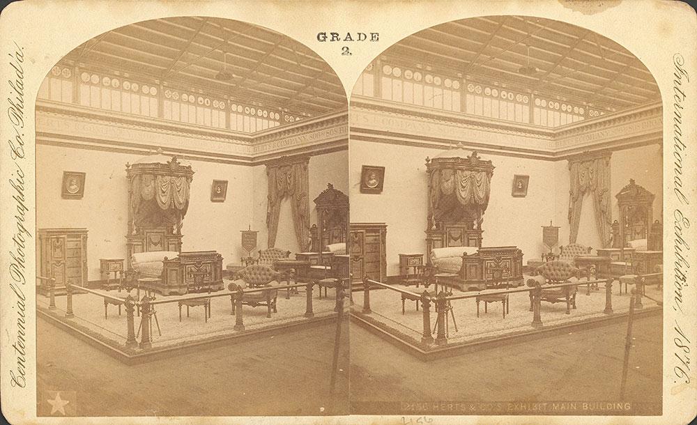 Herts & Co.'s furniture exhibit-Main Building