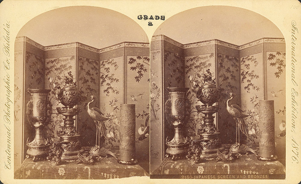 Japanese screen & bronzes