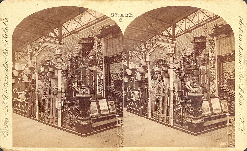 J.B. & J.N. [sic] Cornell's Iron Works exhibit