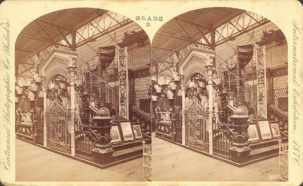 J.B. & J.N. [sic] Cornell's Iron Works exhibit