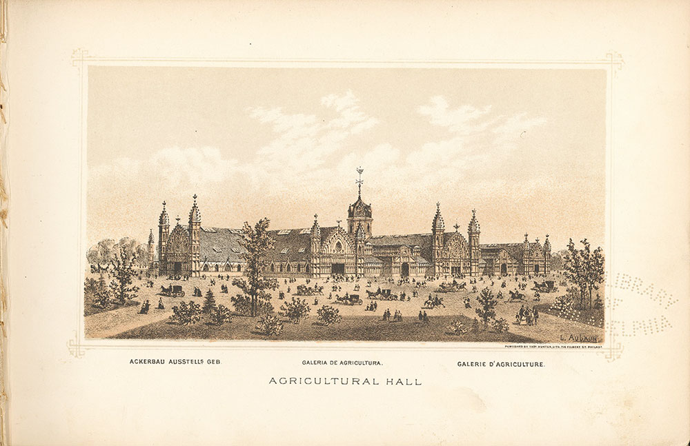 Agricultural Hall Engraving