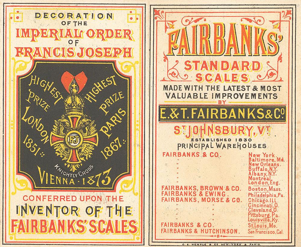 Fairbanks' standard scales