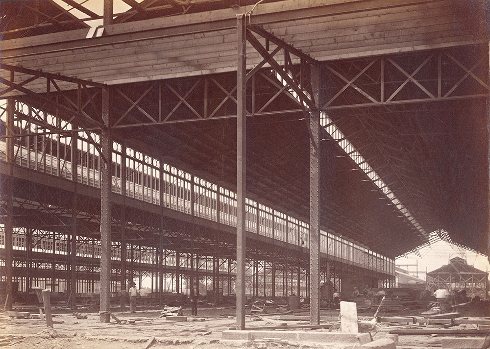 Main Exhibition Building construction