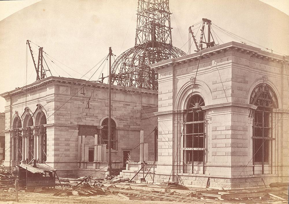Memorial Hall/Art Gallery construction