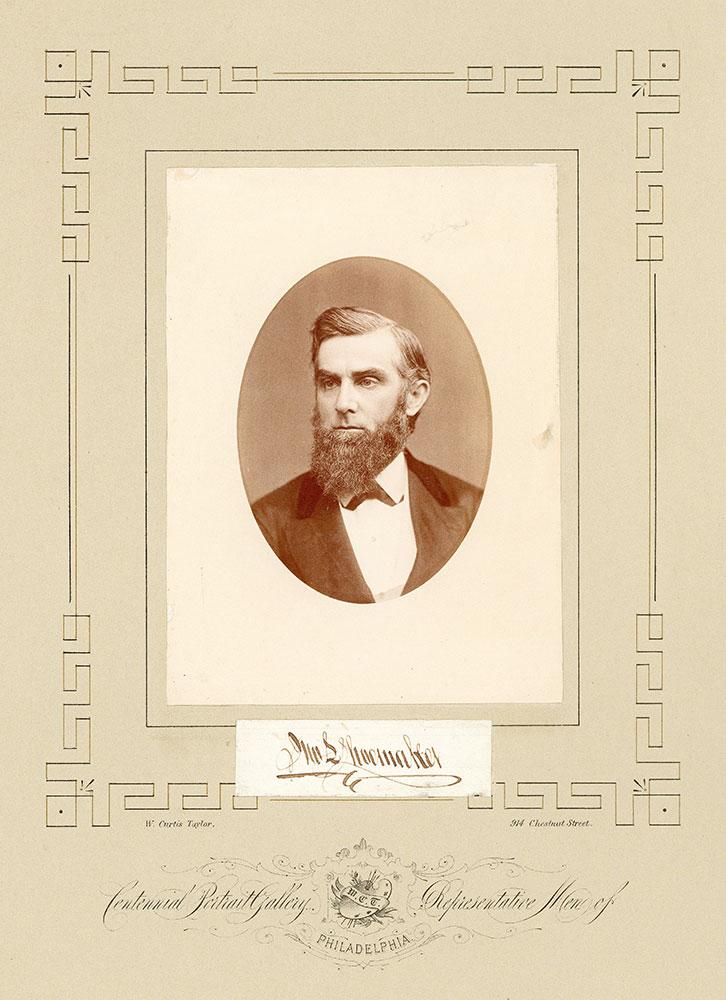 Portrait of John Longstreth Shoemaker