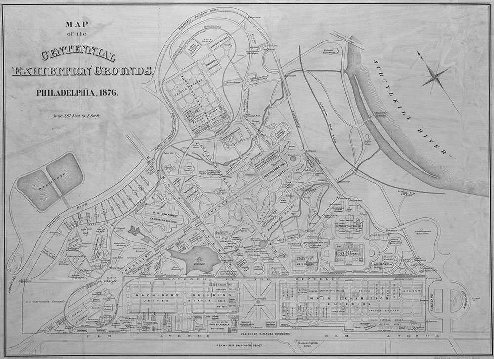 Map of the Centennial Exhibition Grounds