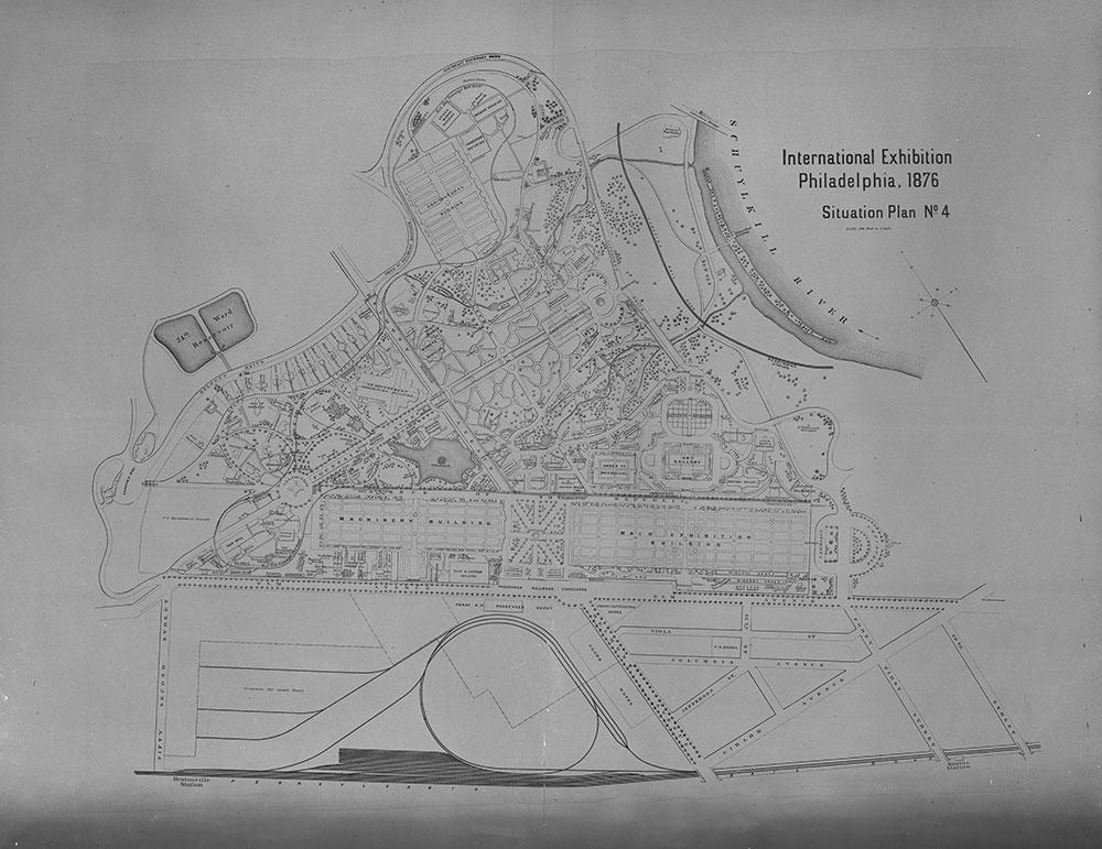 International Exhibition Philadelphia, 1876. Situation Plan No. 4.