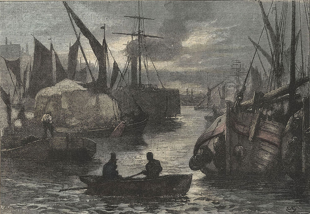 Illustrations to Old Curiosity Shop--Daniel Quilp sat himself down in the wherry to cross to the opposite shore