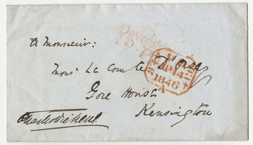 Envelope for ALs to Count D'Orsay