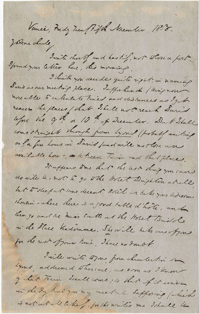 ALs to Charles Dickens JR.