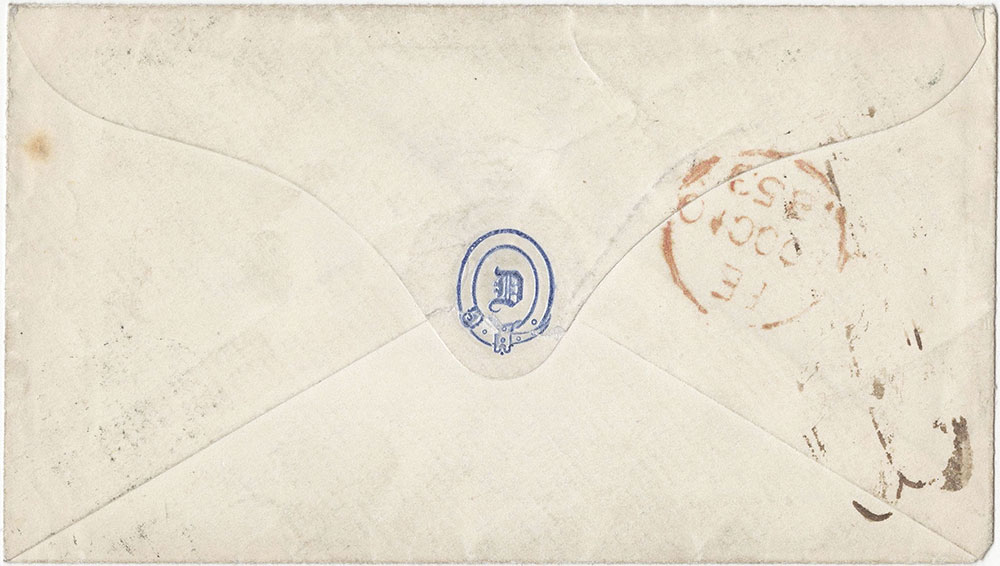 Envelope for ALs to William Bradbury