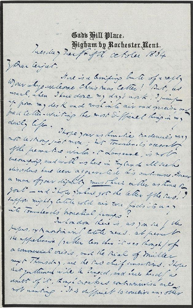 ALs to William F. de Cerjat