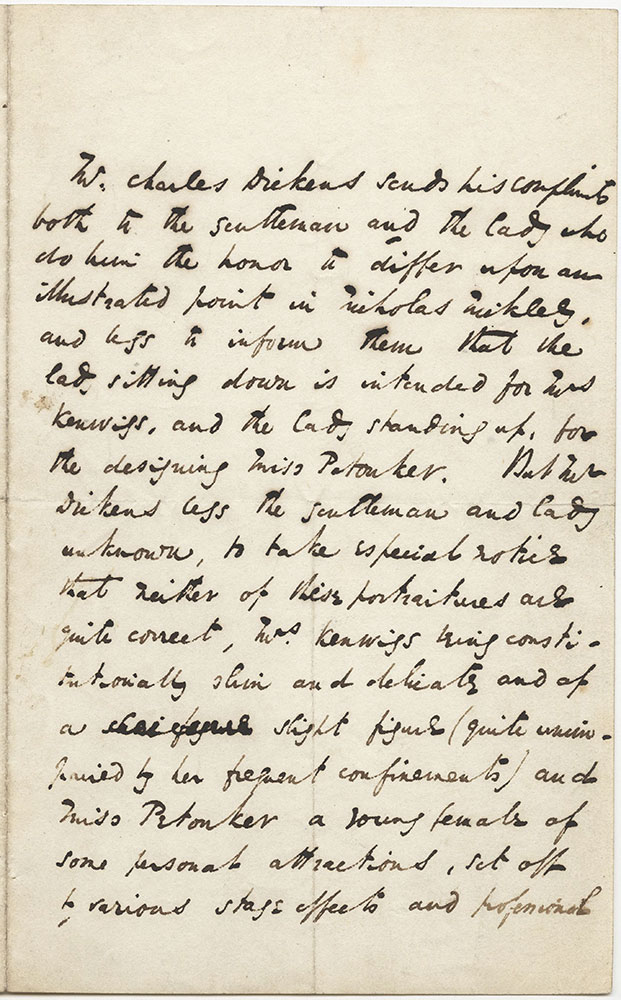ALs to Mr. and Mrs. Augustus DeMorgan