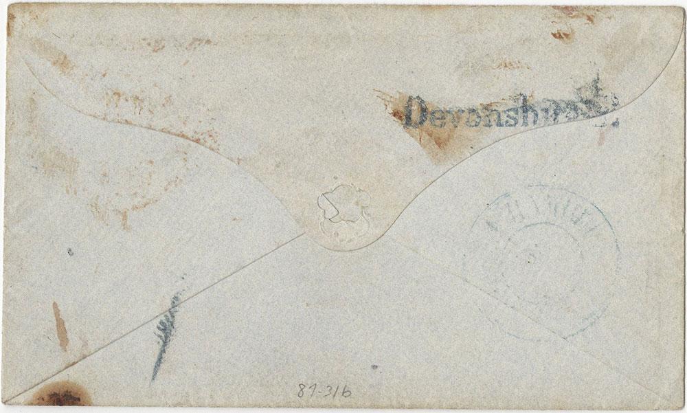 Envelope for ALs to Miss Emmy Gotschalk