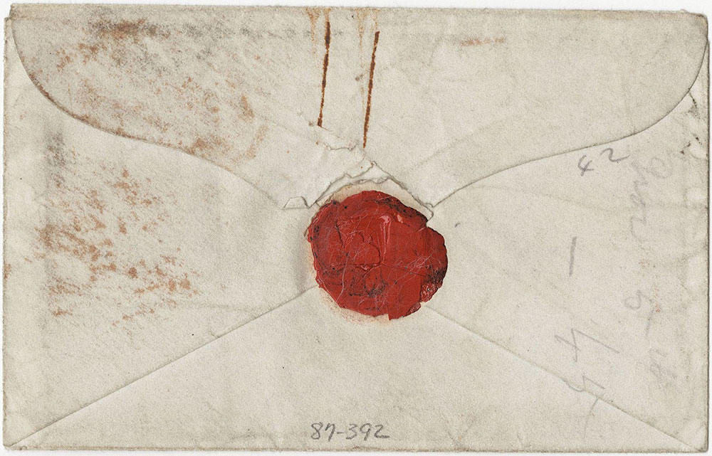 Envelope for ALs to Fanny Kelly