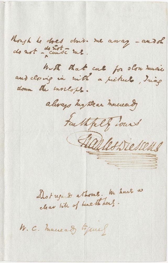 ALs to William Charles Macready