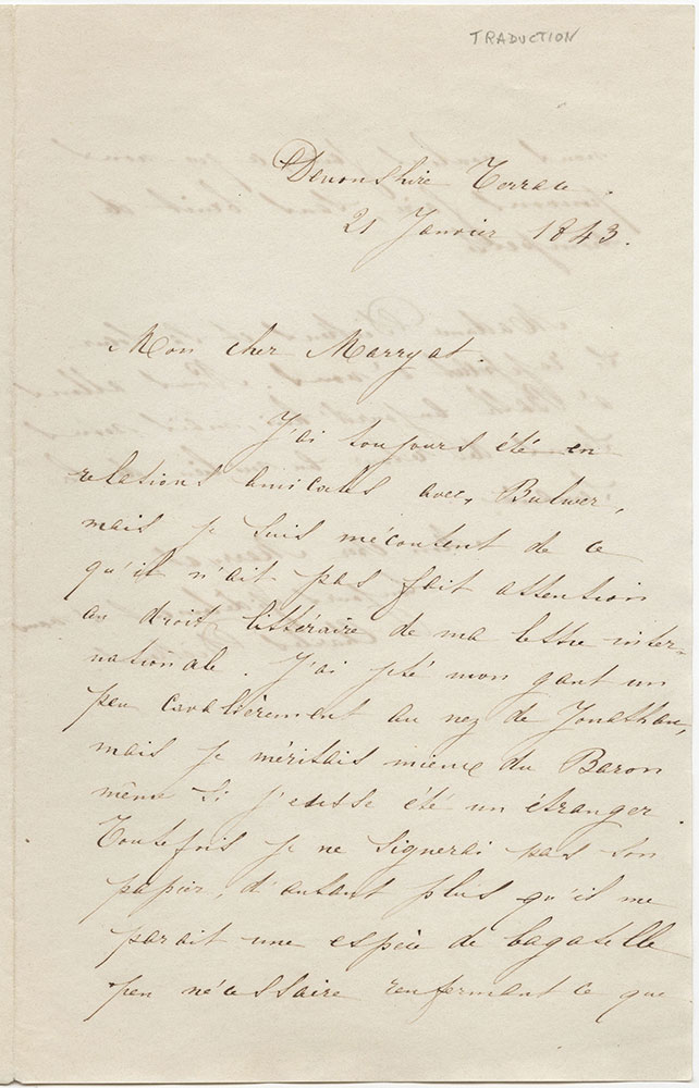 Als to frederick marryat with translation of letter into french als to frederick marryat with translation of letter into french spiritdancerdesigns Images