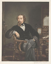 Portrait of Charles Dickens icon image