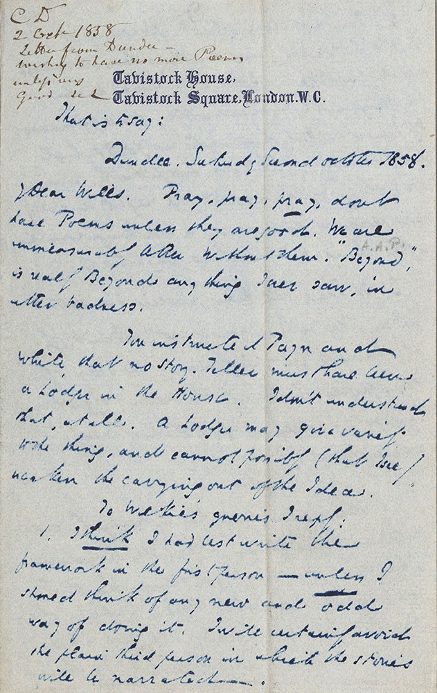 ALs to William Henry Wills - Digital Collections - Free Library