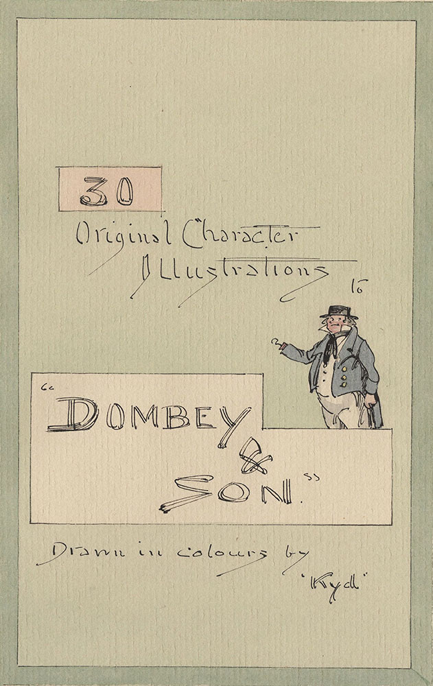 Watercolor Drawing Illustratiing Dickens's Dombey & Son
