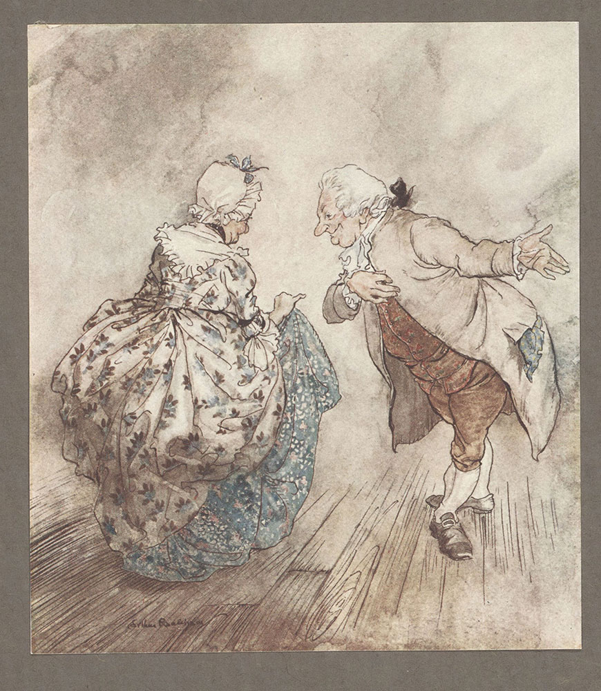 A Christmas Carol Illustrated By Arthur Rackham Digital Collections Free Library
