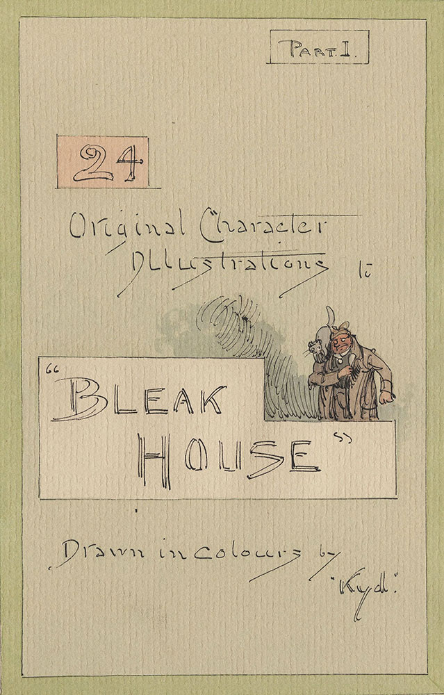 Illustrations of Characters in Dickens's Bleak House--Original Character Illustrations