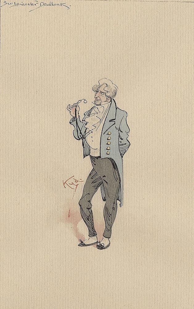Illustrations of Characters in Dickens's Bleak House--Sir Leicester Dedlock