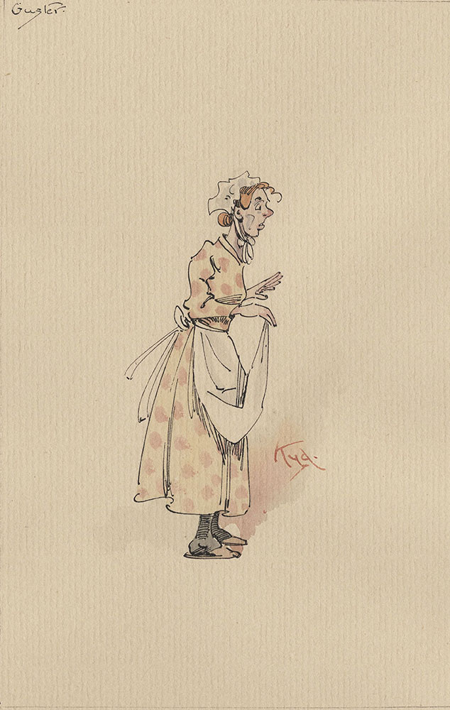 Illustrations of Characters in Dickens's Bleak House--Guster