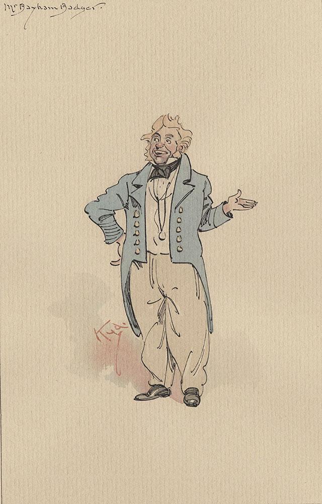Illustrations of Characters in Dickens's Bleak House--Mr Bayham Badger