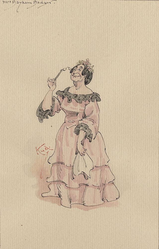 Illustrations of Characters in Dickens's Bleak House--Mrs Bayham Badger