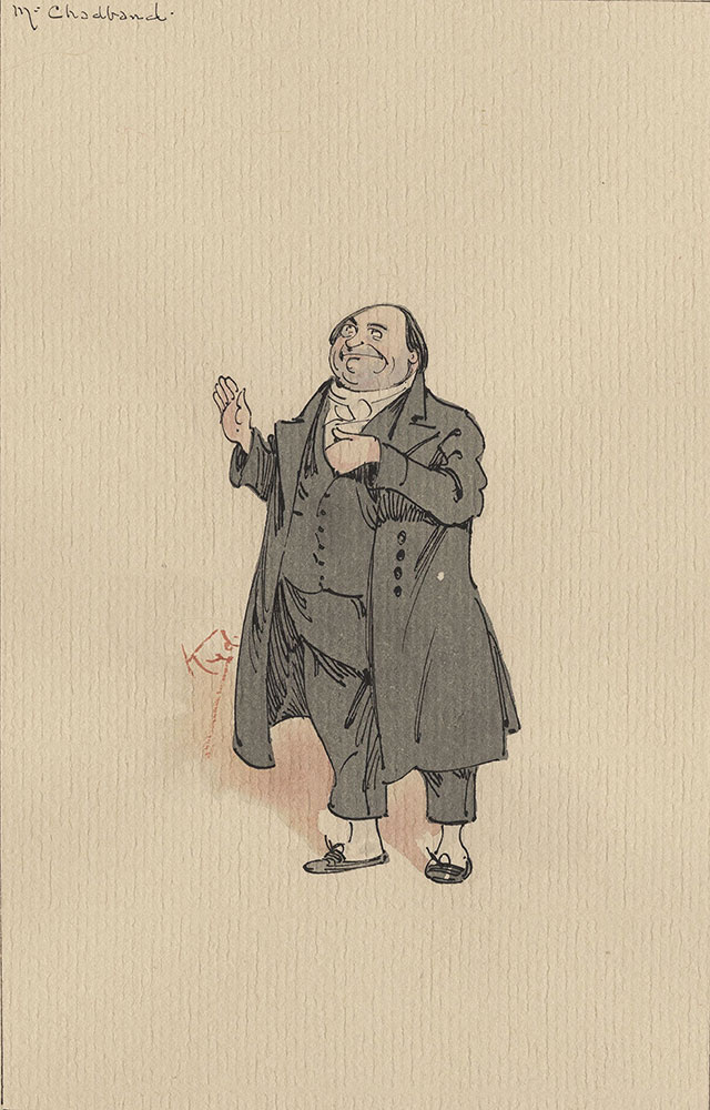 Illustrations of Characters in Dickens's Bleak House--Mr Chadband