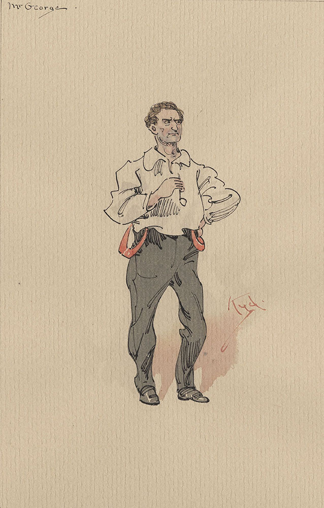 Illustrations of Characters in Dickens's Bleak House--Mr George